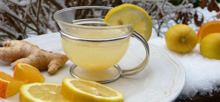 acqua con zenzero e limone