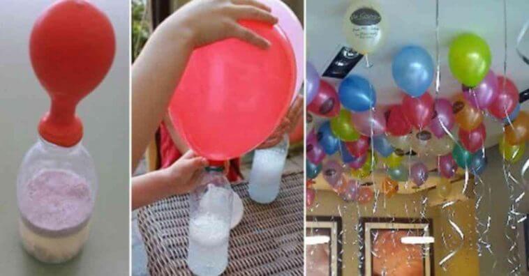 Encha bal es para festa l em casa sem o g s h lio f cil for Ballonnen versiering zelf maken