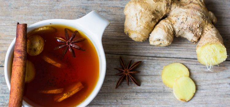 chá detox com gengibre